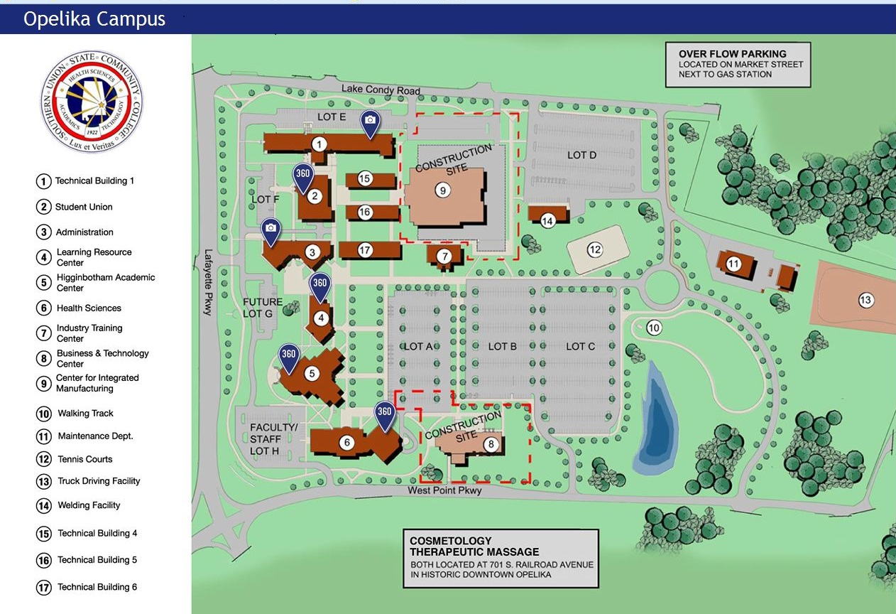southern union opelika campus map 3 11 3 Physical Facilities Compliance Certification Southern southern union opelika campus map